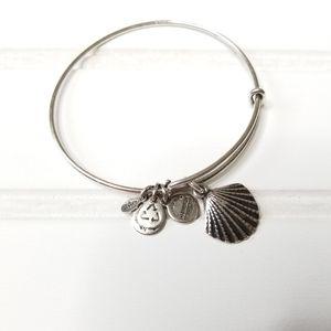 Alex and Ani - bracelet charm silver seashell